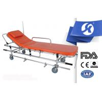 China Aluminum Alloy Ambulance Patient Stretcher Trolley Dimension Adjustable on sale