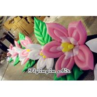 Buy cheap 8m Decorative Inflatable Flower String with Pink and White flowers for Wedding and Stage product