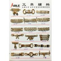 Quality Custom Brushed Gold Zinc Alloy Buckle Chains For Ladies Shoe Spare Parts wholesale