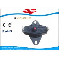 Quality KSD302 series manual reset Snap Disc Thermostat / bi metal thermostat for heat protection wholesale