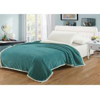 China Stain Resistant Heavy Fleece Blanket , All Age Group Coral Cotton Blanket on sale
