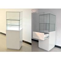 Quality White Glass Wooden Jewelry Display Cases With Locks 500 X 500 X 1500MM wholesale