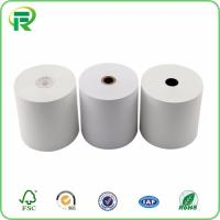 China 80mmx80mm cardboard core cash register adhesive thermal paper roll factory on sale