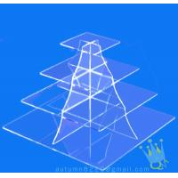 Quality CD (105) 4 tier acrylic square cake stand wholesale