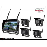 Quality Wireless  Heavy Duty Truck 7 Inch Rearview Mirror Monitor And DVR System wholesale