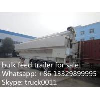 China factory sale CLW 3 axle 30ton feed tank trailer for farm, best price 40-50m3 farm-oriented animal feed tank semitrailer on sale