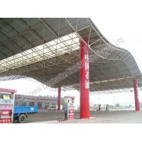 China Gas Station Light Steel Roof Trusses with Steel Space Frame Canopy on sale