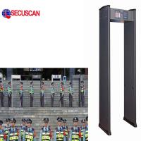 China 6 Zones Walk Through Metal Detector of Long Range , metal detectors security on sale