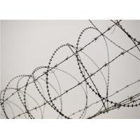 Quality Galvanised Barbed Razor Wire , Rust Resistance Concertina Razor Wire For Prison wholesale