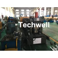 Quality Carbon Steel Top Hat Channel Cold Roll Forming Machine With 1.5 Inch Chain wholesale