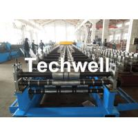 Quality Metal Roof Panel Roll Forming Machine / Double Layer Forming Machine With Hydraulic Cutting wholesale
