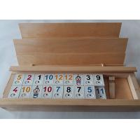 Quality Unfinished Natural Solid Wood Gift Packaging Box With Sliding Lid For Poker Cards wholesale