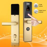 Quality Finger-Touch Password and Biometric Fingerprint Door Lock with Handle Direction Reversible wholesale