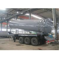 Quality Tri Axles Vac Semi Septic Pump Trailer For Off Road And Oil Field Operation 28000 L wholesale
