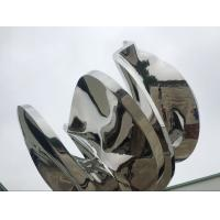Quality Abstract Metal Garden Sculptures And Ornaments Mirror Polished Finishing wholesale