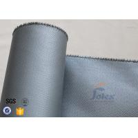 Quality Silicone Coated Fiberglass Fabric Fire Blanket Cloth 580gsm 0.55mm Grey Color wholesale