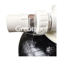 Quality 400mm Black Fiberglass Top Mount Sand Filter Cleaning Equipments For Swimming Pool wholesale