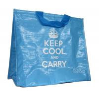 Quality Reusable Thermal Insulated Bags PP Woven Fabric Cylinder Printing with Silvery Foam wholesale