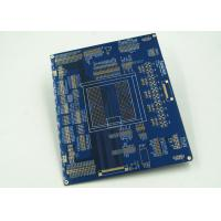 Quality Blue Multilayer PCB For Controller White Silkscreen Gold Surface Finish wholesale