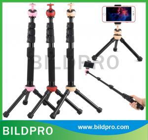 China Mobile Phone Self Sticks Camera Mini Tripod Monopod Aluminum Bluetooth Selfie Stick Holder on sale