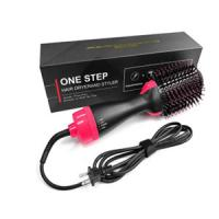 Meraif electric hair curling brush,Professional electric dry iron 2 in1 hair brush Styler