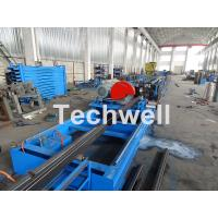 Quality Galvanized Steel Cold Roll Forming Machine With High Speed 12-15m/min For Rack Box Beam / Step Beam wholesale
