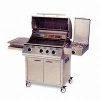 Quality 30-inch Stainless Steel Cart Barbecue Grill with 3 Burners and Temperature Gauge wholesale