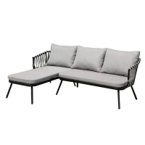 Quality 680mm Height Rattan Garden Corner Sofa wholesale