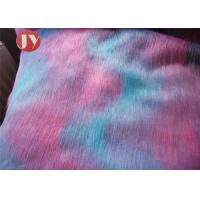Quality Mixed Color Plush Faux Fur Fabric Fluffy 45mm Pile Home Decoration Bedding wholesale