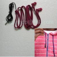Quality hoodie earphone factory washable earphone drawstring headphone for hood jacket wholesale
