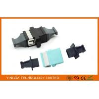 Quality MPO / MTP OM3 10G Fiber Optic Adapter , Coupler Black Plastic 24 Fiber SC Adapter wholesale