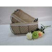 Quality storage mesh wire baskets with fabric liner set of two wholesale