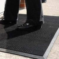 Quality Dirt Scraping Rubber/Door/Entrance Mat, Comes in Black, Suitable for Outdoor Areas wholesale