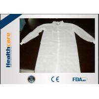 Buy cheap Lightweight Disposable Lab Coat Non-woven White Coat With Two Pockets CE ISO Approval from wholesalers