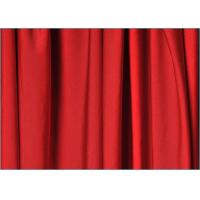 Quality Bright Red Polyester Spandex Fabric , Knit Type Poly Crepe Fabric wholesale