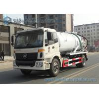 Quality FOTON Auman 4x2 Vacuum Tank Truck / Vehicle Mounted Water Tanks Capacity 10m3 wholesale