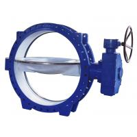 Quality Double Eccentric Flanged Butterfly Valves stainless steel , Tri - Eccentric  Butterfly Valve wholesale