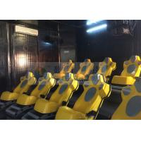 Quality Interaction Reality 7D Movie Theater With Yellow Motion Seats wholesale