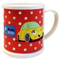 China Fancy 3d Cartoon Car Shape Soft Pvc Mugs on sale