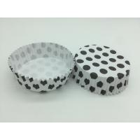 Quality Round Shape Wedding Black And White Polka Dot Cupcake Liners Greaseless Non Stick wholesale