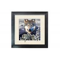 Quality 5D Effect Wolf 3D Lenticular Photo Printing For House Decoration MDF Frame wholesale