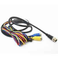 Quality Vehicle CCTV Backup Camera Cable 9pin Din To 2x4pin Plug With DC Connector wholesale