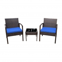 Buy cheap Terrace Balcony Poly Rattan Wicker Bistro Table And Chairs Set from wholesalers
