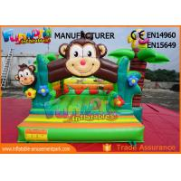 Quality Double Stitching Monkey Jungle  Commercial Bouncy Castles / Kids Inflatable Jumper wholesale