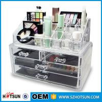 Cheap Acrylic Cosmetic Storage Display Boxes, Wholesales cosmetic organizer with drawers,hot sales acrylic makeup organizer for sale