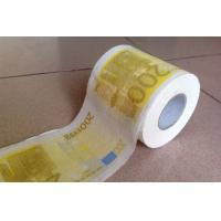 Quality 200 euro funny printed toilet tissue roll wholesale
