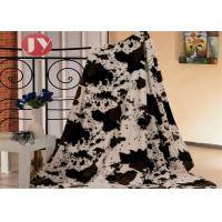 China Animal Printed PV Plush Sherpa Blanket For Home Rectangular Polyester Winter on sale