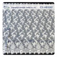China Custom Printed Swiss Voile Lace Trimming / Wedding Dresses Lace Fabric on sale