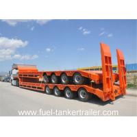 Quality shandong shengrun low bed trailer 100 ton with manual or hydraulic type ladder wholesale