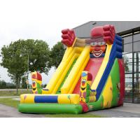 China Single Lane Super Clown Inflatable Slide 6.3m Height  With Logo Printing on sale